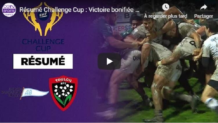 Le résumé vidéo de la victoire bonifiée Toulonnaise à Bayonne