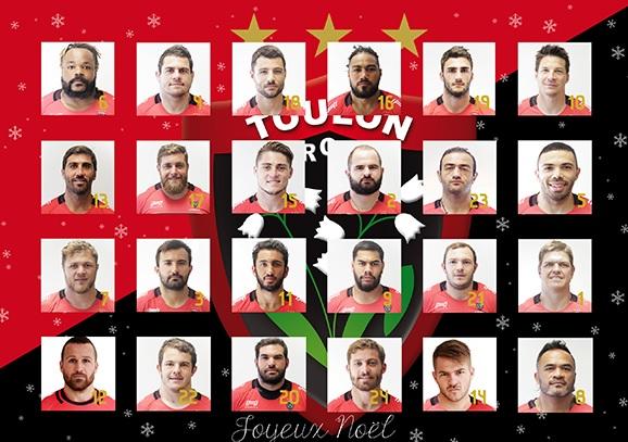 Rct Toulon Calendrier.Le Rugby Club Toulonnais Sort Son Calendrier De L Avent