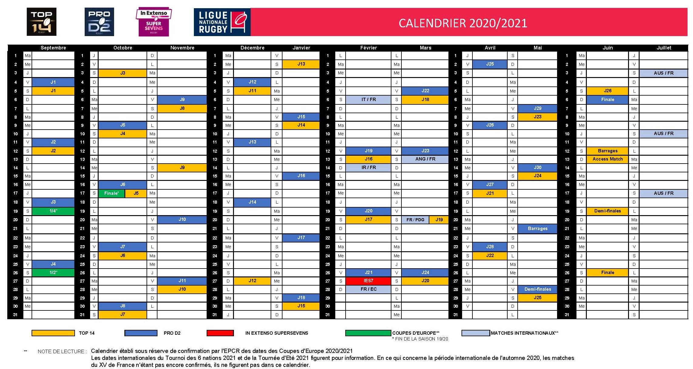Calendrier Rct 2021 Découvrez le calendrier adopté par la Ligue et la Fédération